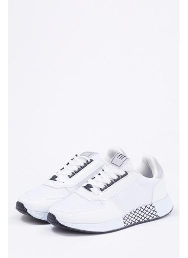 Defacto –Fit Bağcıklı Spor Ayakkabı Beyaz